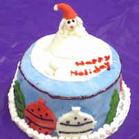 Christmas Dog This was a holiday cake for my mom's workplace