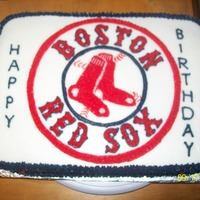 Boston Red Sox Cake I had a friend of mine request this cake. I think it turned out really good considering I had never done this team before.