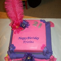 1St Time Fondant Birthday Cake This was the 1st fondant cake I had ever made, didn't know hardly anything about fondant, but I was gonna do what I could. It was a...