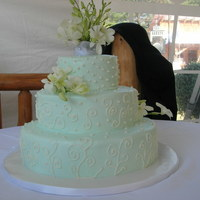 S And D Wedding Cake