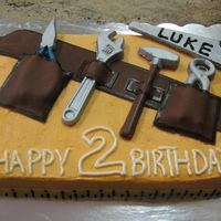 Home Depot Tool Cake Home Depot orange tool cake with chocolate tools, fondant tool belt and fondant tape measure border. Thank you to CC members for the...