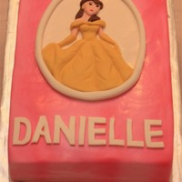 Belle   Modeling chocolate and Fondant Decorations. Vanilla cake w/ BC filling. TFL