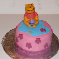 Pooh Bear i sculpted pooh out of fondant