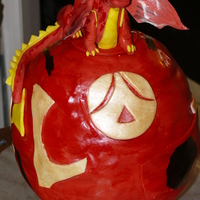 Bakugan MMF, Gumpaste, cake Bakugan red dragon