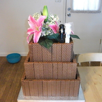 Nutty Bar Grooms Cake  This is a grooms cake I did for a friends wedding....it is styrofoam painted with melted chocolate to cover and then more melted chocolate...