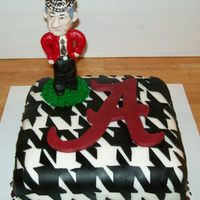 Bear Bryant Bobble Head Cake I made the bobble head of Bear Bryant, Alabama footballs favorite coach, out of chocolate.