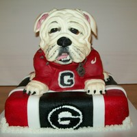 Uga Vii Georgia Bulldogs The Bulldog is made out of cereal treats covered in modeling chocolate. All decorations are edible.