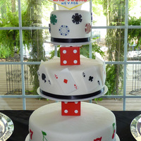 Vegas Themed Wedding Cake