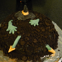 Buried Witch  This was another fun cake too make. I got the idea from another fantastic cake maker from this site. I made this for my 7 yr old Halloween...