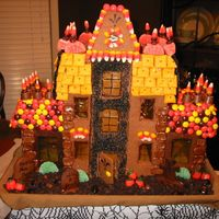 Halloween Gingerbread Haunted House