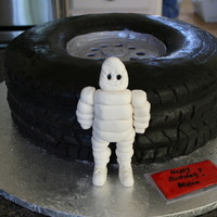 Michelin Tire Michelin tire was made for the owner of a tire shop for his birthday.