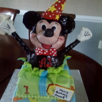 Mickey Surprise 1st birthday cake