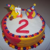 Sesame Street Cake This was my first attempt at decorating with fondant. Not great, but the kids loved it.