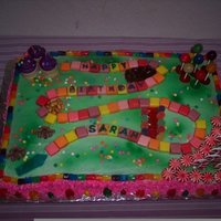 Candyland Cake My daughter loved playing Candyland & wanted a cake to match the playing board.