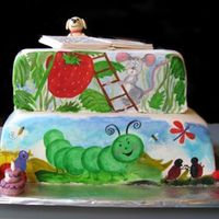 Story Book Theme I hand painted this cake for my daughters 2nd birthday. I took 8 pictures from all her favorite story books and made her favorite...