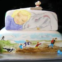 Story Book Theme anoather side to my daughters story book theme cake