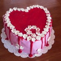 The Valentine Before This is a Valentine cake to match the wedding cake design of an upcomming wedding for a friend of mine.