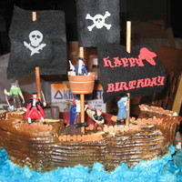 Pirate Birthday pirateship birthday cake. it was my first shaped cake