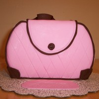 Pink Purse Cake This is my 1st purse cake, did it for a friends bday
