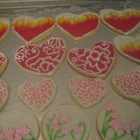 Valentines Cookies Toba's glace and RI accents. Many thanks for the inspiration from many CCers!