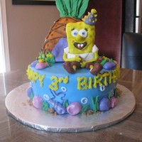 Spongebob Cake Spongebob cake for a 3 year old's bday. Inspiration from all the cakes here on cc! I don't know what I would do without this site...