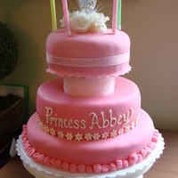 Princess Abbey Cake I made this cake for my daughter years ago. Choc. cake with Vanilla bean buttercream and mm fondant