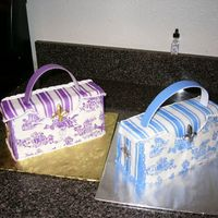 Two Purses  Purple and Blue 'French Purse'. Nicholas Lodge's design. One is for my sister's birthday, one is for my hair stylist&#...