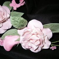 Pink Roses Gumpaste flowers for another decorator.