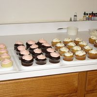 Cupcakes - Ready For Market All cupcakes have a filling of fruit/buttercream or caramel/buttercream. 12 dozen is a lot of cupcakes.