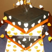 Orange And Black Wedding Cake