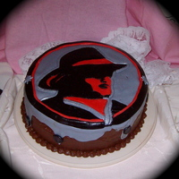 Las Vegas, Wranglers--Hockey Team wranglers logo, birthday cake , i free handed my own pattern.