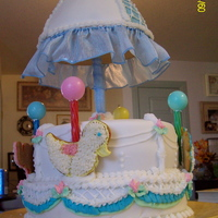 Nieces Baby Shower Cake First time working with fondant.