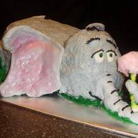 Horton This cake was done for second graders who were celebrating Dr. Seuss' birthday - inspired by Horton Hears a Who. The cake was hand-...