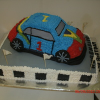 Sports Cruiser Funny Cake My first buttercream raspberry pound cake car.
