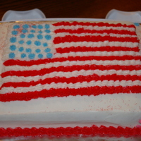Fourth Of July Cake This cake I made for a party of ours for the 4th of July.