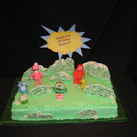 Ya Gabba Gabba   All fondant or white chocolate. Everything is edible, except the birthday sign. Made for Beatrix Agogo Puma!