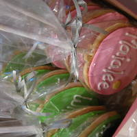 Cookie Lollies Sugar Cookie Lollies for a 3rd birthday party- cookies have each kids name on them.
