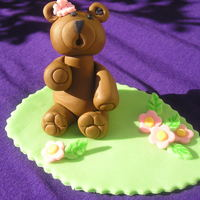 Honey Bear Tried another gumpaste figure saw on CC.