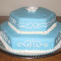 69Th Birthday Cake Blue piping cake