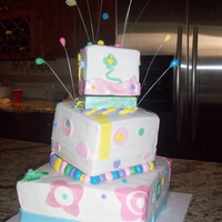 Whimsical Topsy Cake! First topsy turvy cake for a grown up friend of mine ,lol. she loved it. Her nieces and nephews at the party thought my fondant balls were...