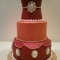 Moroccan/mediterranean Style Cake A moroccan/mediterranean style cake for the daring bride!