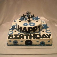 Happy 60Th Birthday   BC with fondant accents......thanks for looking!