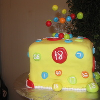 Bingo Birthday Cake This cake was bingo themed. Cake is 4 2in layers with BC and covered in fondant.