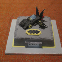 Lego Batman Cake This is my first cake- not only baking from scratch but also I had never used fondant before. It's vanilla sponge cake with butter...