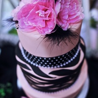 Tickled Pink Non-Traditional Cake for Bridal Fair