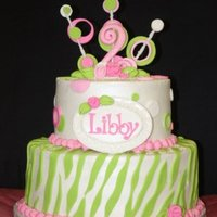 Libby Cake Cake for a sweet little girl, that matched an ivitation.