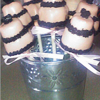 Wedding Cake Pops practice cake pops I did for an upcoming event...