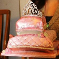 Princess Baby Shower Cake   carved pillow cake...my first royal icing tiara...i was pretty happy with how it turned out...