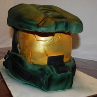 Master Chief I made this for my sons 10th bday. It is from the halo game and I based the design off of a pic found online from Mikes Amazing Cakes. This...