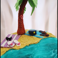 Beach Cake I made this cake for a friend's anniversary. They love the beach and this is what I created based on what she told me :) Coconut...